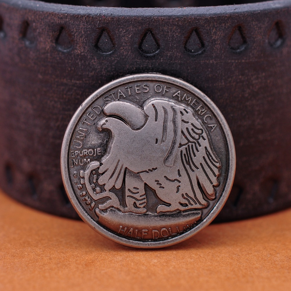 10X30 мм Western Americian Half Dallor Coin Leathercraft Conchos набор заклепок назад
