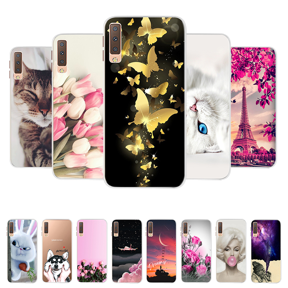 For Samsung on Cover Samsung Galaxy A7 2018 6.0 Case tpu A750 Soft Silicone Back Cover For Samsung A7 2018 SM-A750f Phone Cases