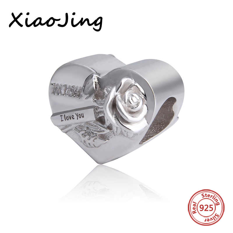 High Quality Mum I Love You charms Beads pendant Fit Pandora charms silver 925 original beads jewelry making for mother gifts