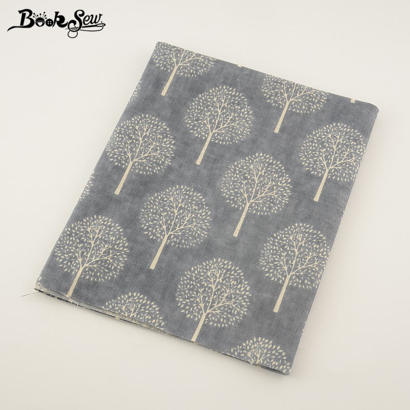Booksew Textile Dark Grey Cotton Linen Fabric Sewing Dandelion Style Material Tissu Tablecloth Pillow Bag Curtain Cushion Zakka